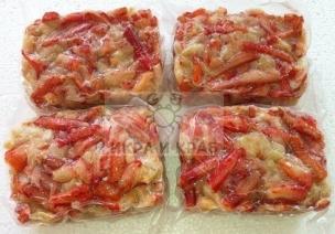 Мясо камчатского краба в/м, салатное